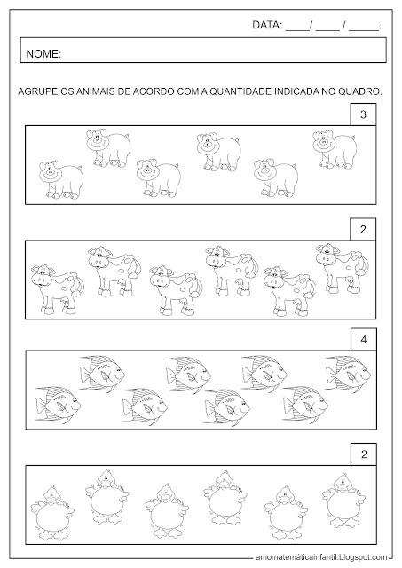 Atividade Formando Conjuntos Agrupamento Animais