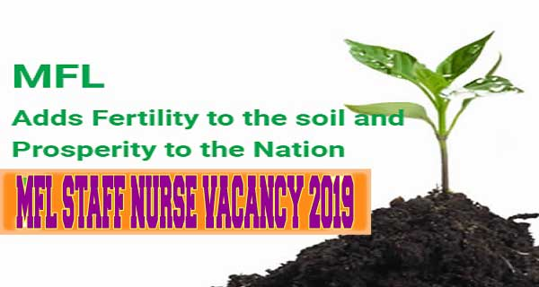 Madras Fertilizers Limited MFL Staff Nurse Vacancy 2019