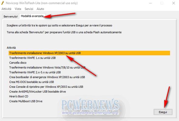 Installare Windows XP