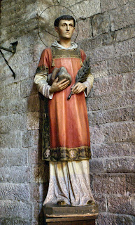 The statue can be found in the Chiesa di Santo Stefano
