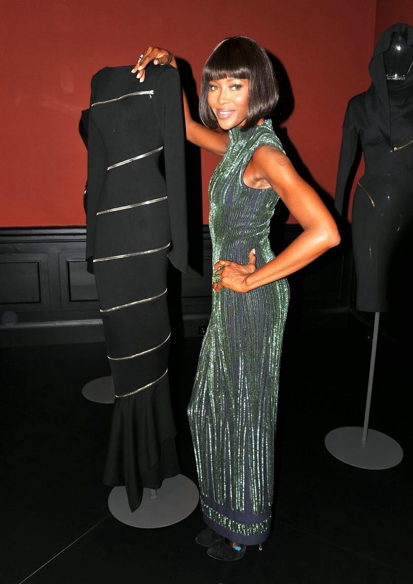 Azzedine Alaia and Naomi Campbell   Vintage Fashion ...  Naomi Campbell Alaia Dress