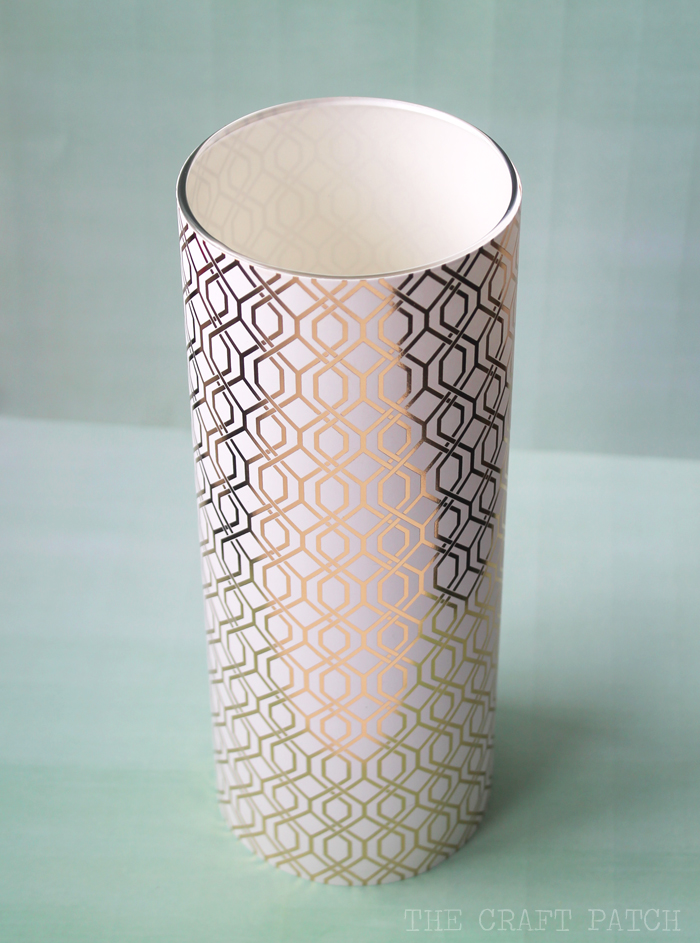 Easy Gold Geometric Vase
