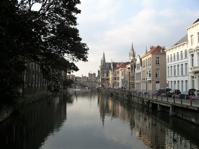 Canali di Gand in Belgio