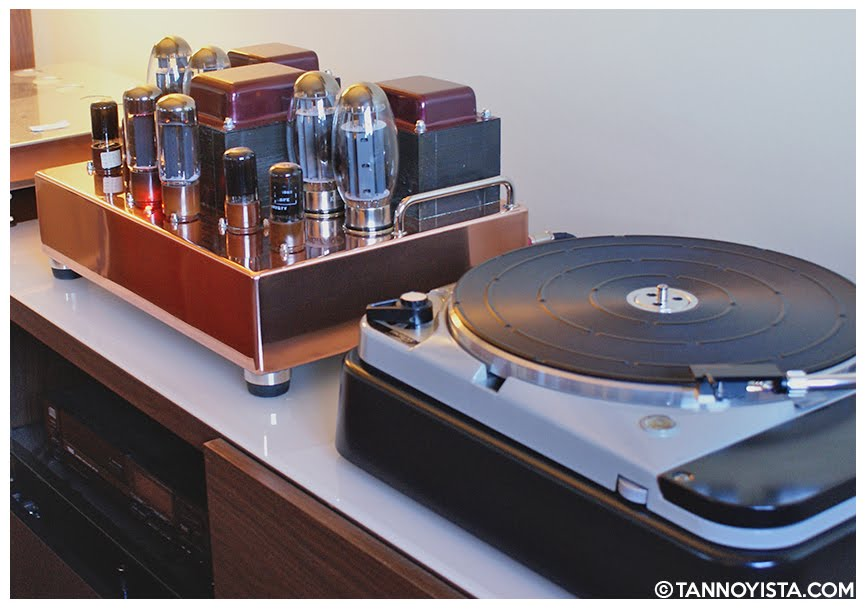 The Tube Distinctions Copper Amplifier and the Thorens TD-124 MKII - Tannoyista.com