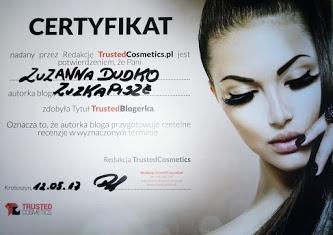 certyfikat trusted cosmetics zuzkapisze