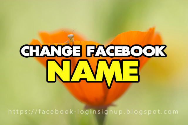 How to change my name back on facebook