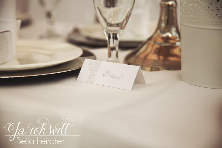 Tischschild Hochzeit Braut