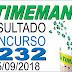Resultado da Timemania concurso 1232 (15/09/2018) ACUMULOU!!!