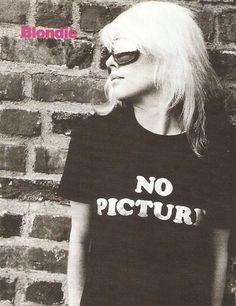 Blondie Debbie Harry No Pictures T-shirt.  PYGear.com
