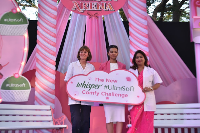 Radhika Apte celebrates the launch of the New Whisper Ultra Soft_