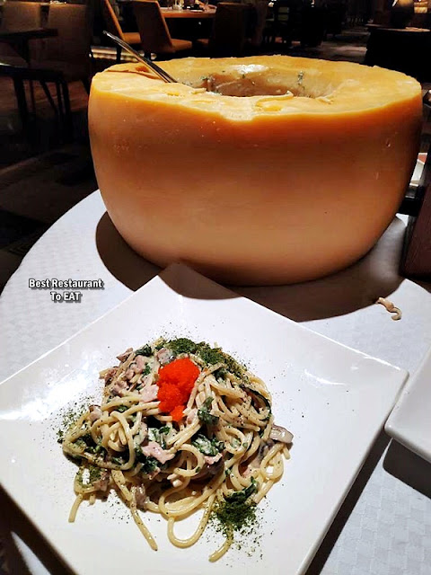 The Club @ G Tower Hotel New Menu - Cheese Wheel Pasta