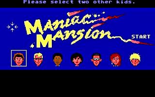 Selección personajes Maniac Mansion