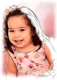 retratos digitais infantis