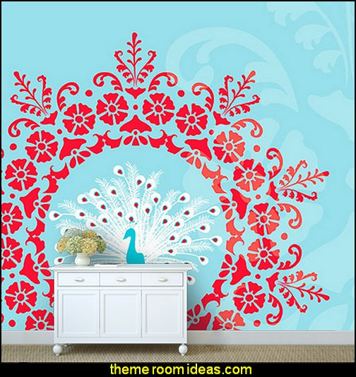 peacock wall murals decorating peacock theme bedrooms maries manor theme bedrooms