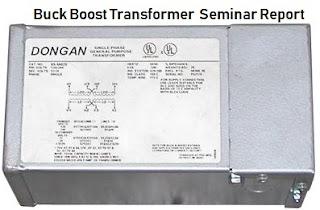 Buck Boost Transformer PDF seminar report