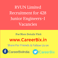 RVUN Limited Recruitment for 428 Junior Engineers-I Vacancies