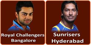 आइपीएल 6 का सातवां मैच सनराइजर्स हैदराबाद और रॉयल चैलेन्जर्स बंगलौर के बीच होना है