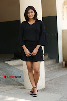 Actress Hebah Patel Stills in Black Mini Dress at Angel Movie Teaser Launch  0163.JPG