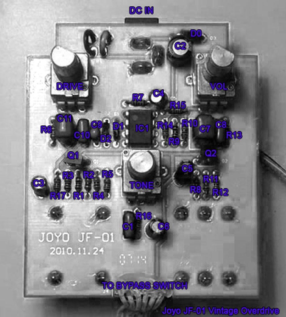 Davide Gironi: Joyo Vintage Overdrive mod - Tube Screamer clone