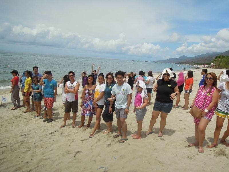 Enjoying the beach at Laiya Coco Grove Beach Resort