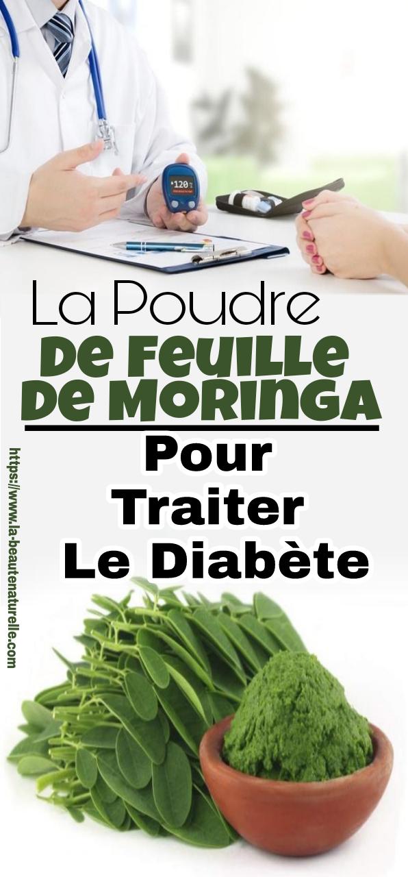 La poudre de feuille de Moringa pour traiter le diabète