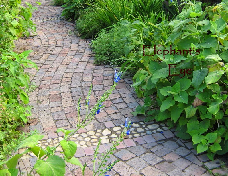 Enchanting work in this brick-paved path at Rustenberg