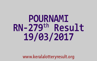 POURNAMI Lottery RN 279 Results 19-3-2017
