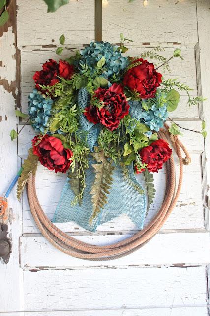 rustic lasso wreath