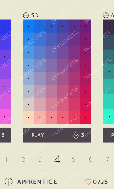I Love Hue Apprentice Level 4 Solution, Cheats, Walkthrough