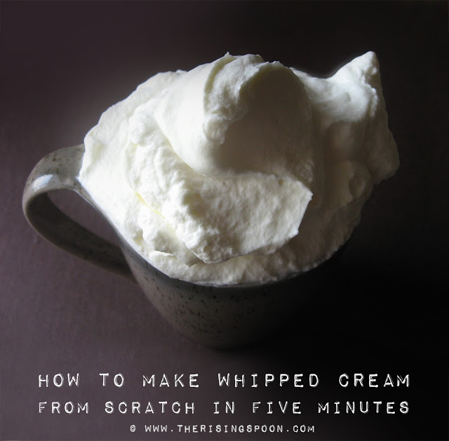 Thanksgiving Dessert Recipe: Easy Homemade Whipped Cream