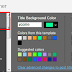 How to Change Post Title Background Color in Blogger-Blogspot Templates