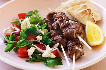 Lemon and oregano lamb kebabs recipe