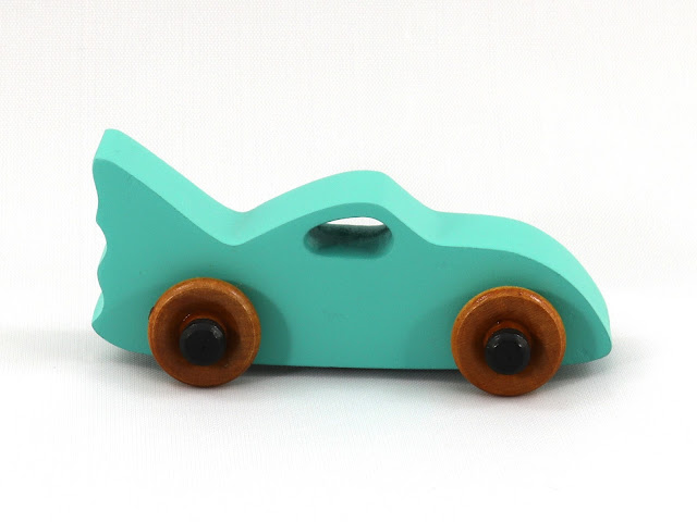 20181129-115511 - 649264854 Handmade Wooden Toy Car - Bat Car from the Play Pal Series - MDF - Green