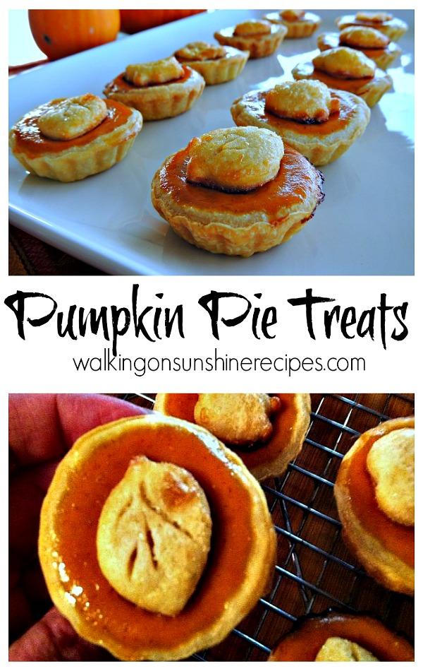 Pumpkin Pie Treats from Scratch from Walking on Sunshine Recipes
