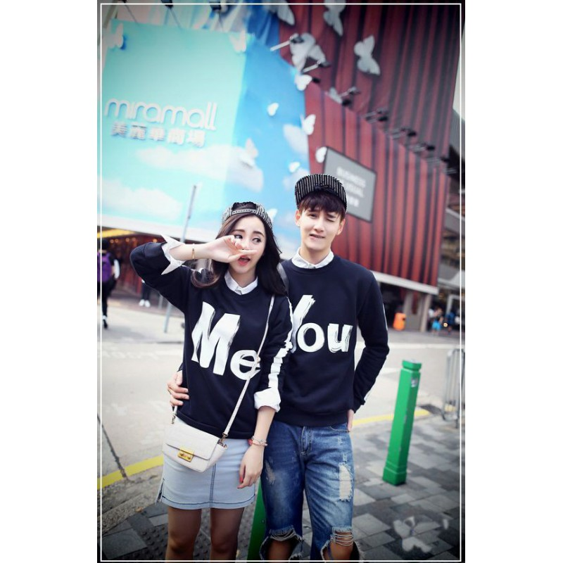 Jual Sweater Couple Sweater You Me Navy - 24248
