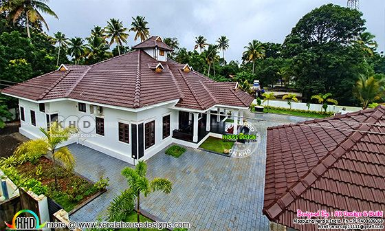 Finished house at Alappuzha, Kerala