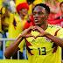 Yerry Mina dedica su segundo gol a Dios