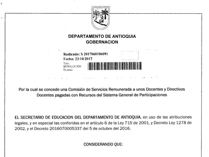 Permiso de reuniones de carácter educativo pedagógico y jurídico para diferentes municipios del departamento