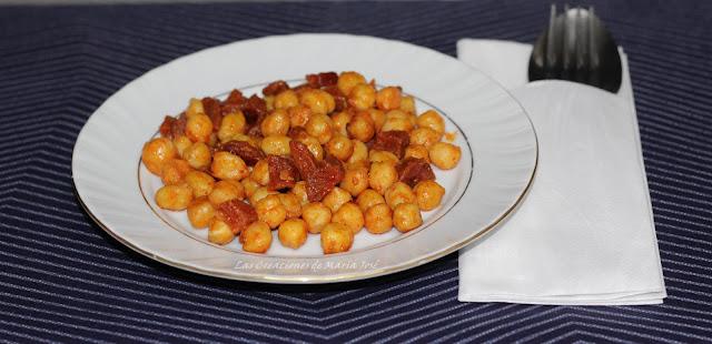 Garbanzos Fritos Con Chorizo