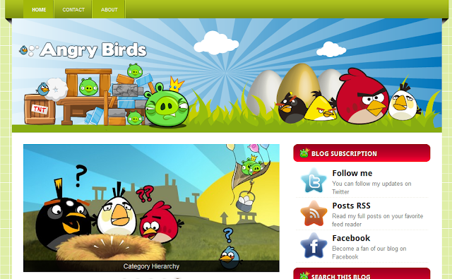 Angry Brids Blogger Template