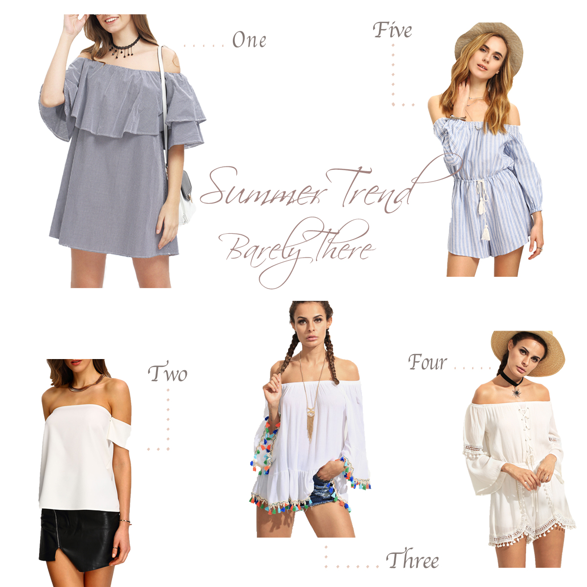 off the shoulder dress, off the shoulder shirt, tassel shirt, summer 2016 trends, shein, sheinside,