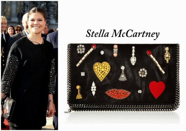 'Falabella' embroidered clutch - Crown Princess Victoria