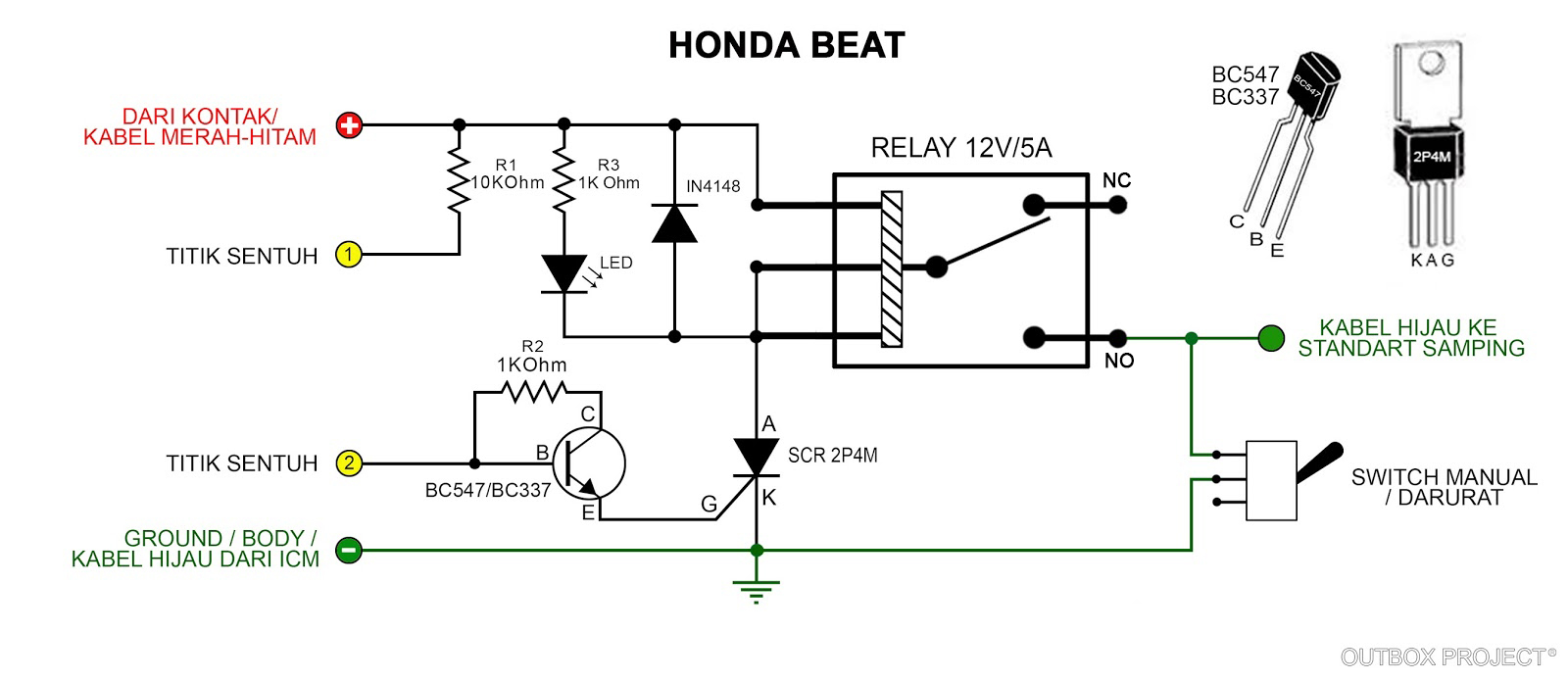 diagram kelistrikan honda tiger