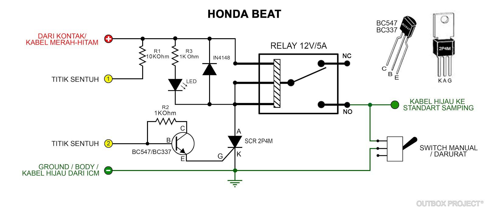 Wiring diagram cdi honda beat