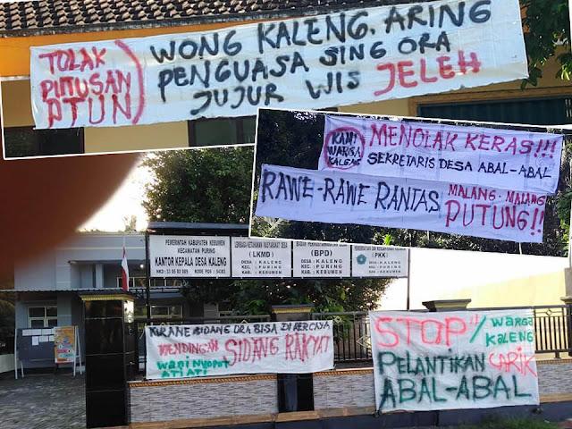 Protes Putusan PTUN, Warga Kaleng Puring Pajang Spanduk Penolakan