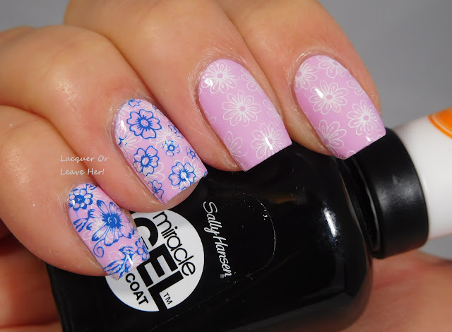 Lina Nail Art Supplies Let's Doodle! 01 over Sally Hansen Orchid-ing Aside