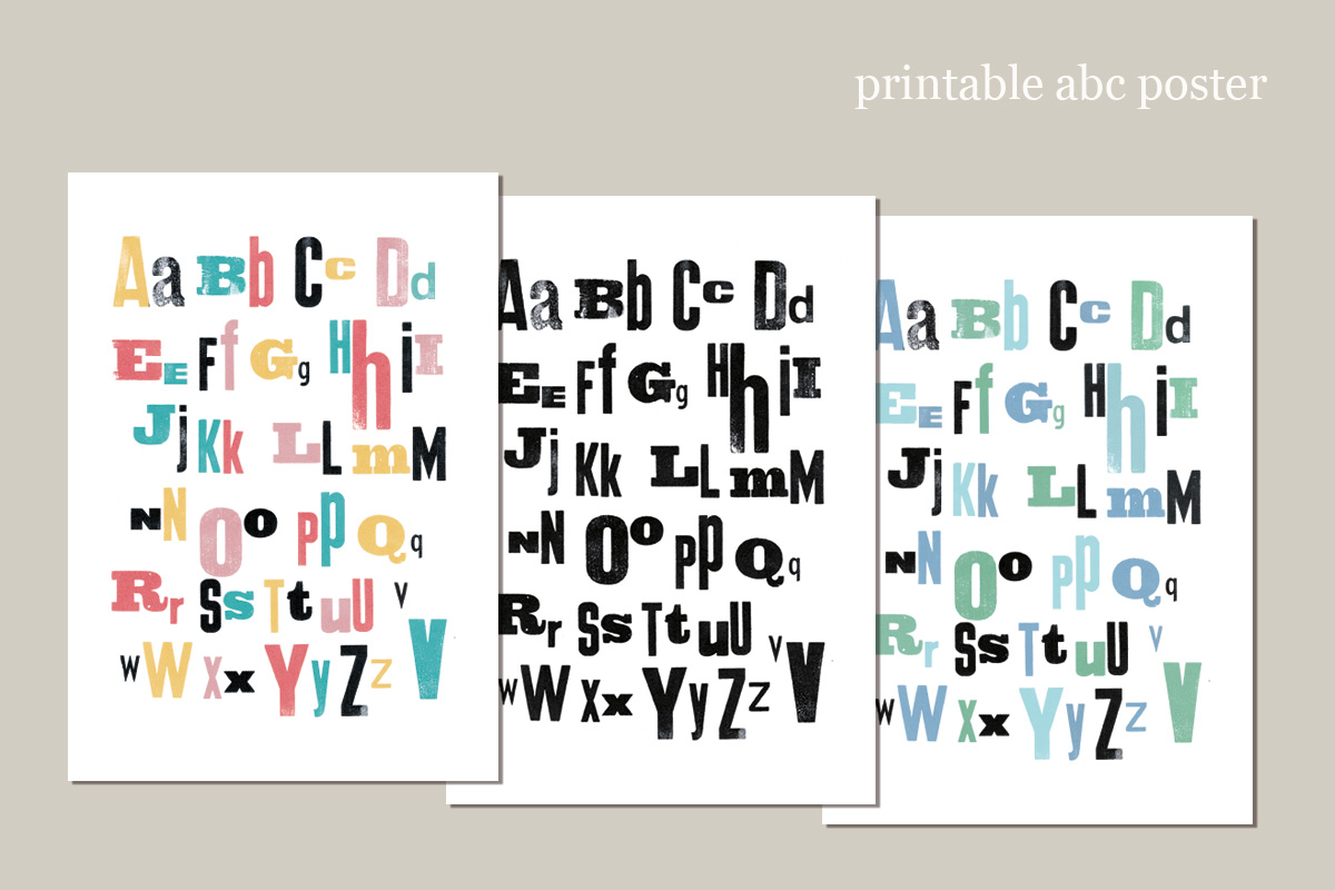 printable Alphabet Poster ~ Small Caps