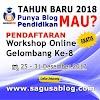 Belajar Blog dari Master SAGUSABLOG
