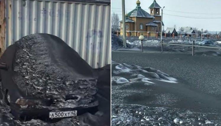 La neve nera tossica che sta cadendo in Siberia