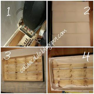 Riciclo creativo cassetta di legno